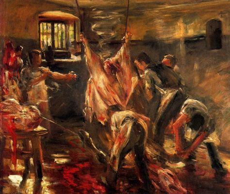Lovis Corinto. In the slaughterhouse (the slaughterhouse)