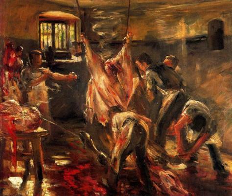 Lovis Corinto. In the slaughterhouse (the slaughterhouse)