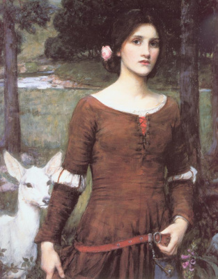 John William Waterhouse. Lady Claire
