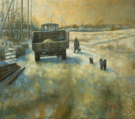 Dmitry Alexandrovich Kustanovich. Son came for lunch