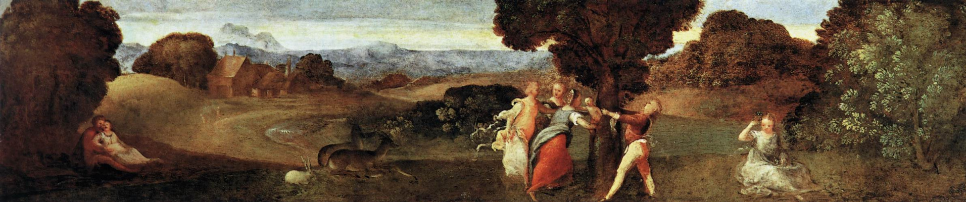 Titian Vecelli. Birth of Adonis