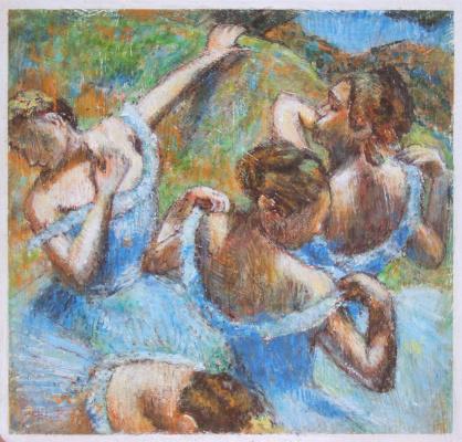 Андрей Харланов. Copy: Dega - Blue Dancers, c.1899, 65 x 65 cm