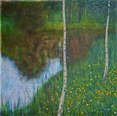 Gustav Klimt. Landscape with birches