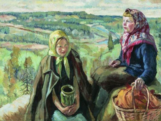 Sergey Arsenievich Vinogradov. Village girls