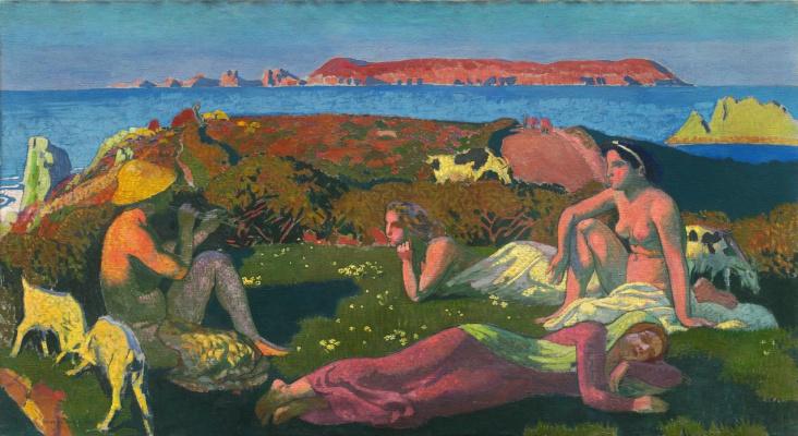 Maurice Denis. Green coast at Perros-Guirec