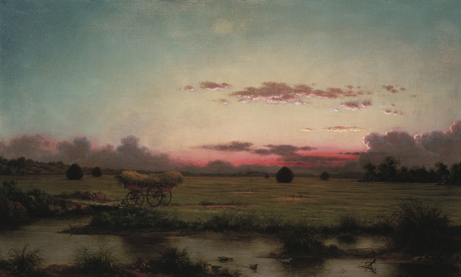 Martin Johnson Head. Sunset in the marshes, Rhode Island