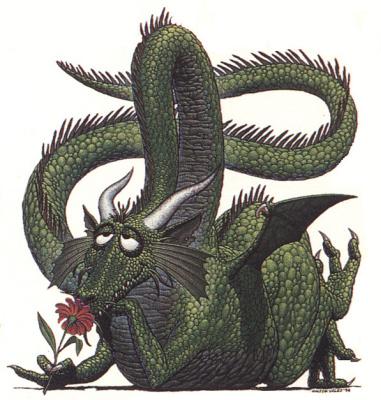 Уолтер Велес. Добрый дракон с цветком