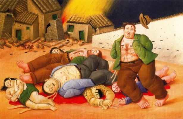 Fernando Botero. Massacre in Colombia