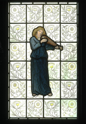 William Morris. Girl playing the lute