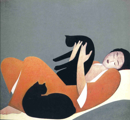 Will Barnet. Girl with cat