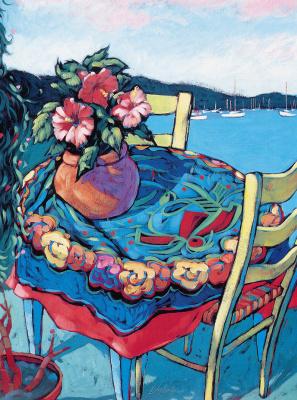 Лори Логлоадер. Цветы в вазе