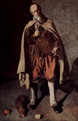 Georges de La Tour. Girondist with a dog
