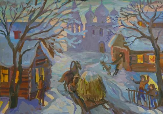 Dina Vladimirovna Bychkova. In the Christmas holidays