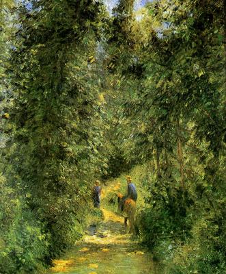 Камиль Писсарро. Путь в лесу в летний период