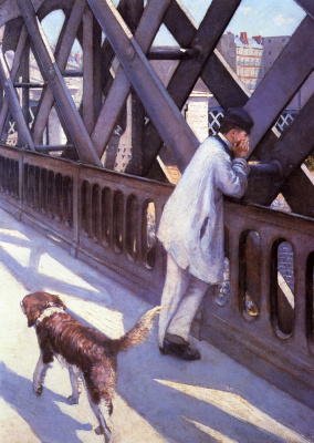 Gustave Caillebotte. The Bridge Of Europe. Fragment