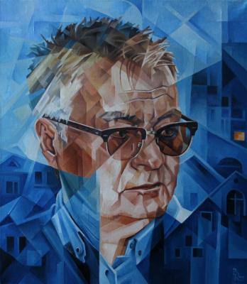 Vasily Krotkov. A self-portrait. Post-kubofuturizm