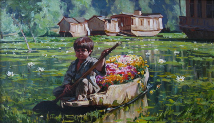 "Artem Yurievich Puchkov. ""The flower seller"" India"