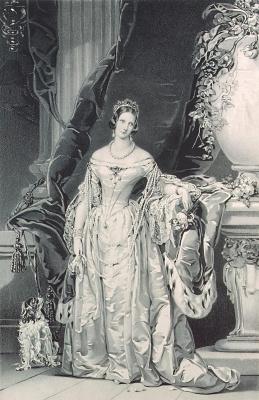 Портрет императрицы Александры Федоровны. 1840-е