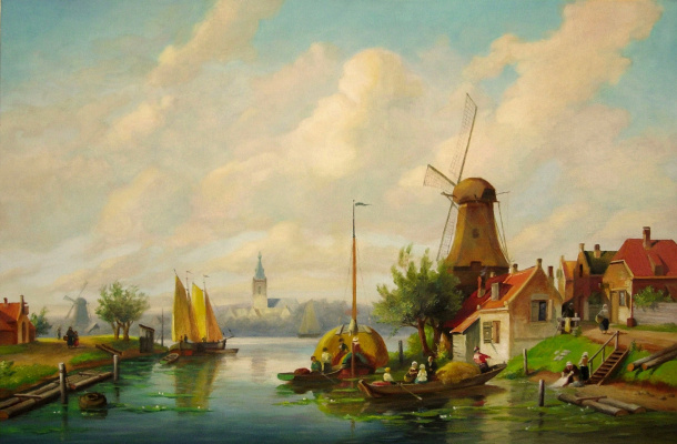 Igor Lemekhov. Dutch landscape (copy)