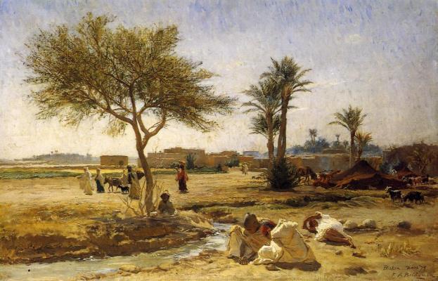Frederick Arthur Bridgman. Arab village