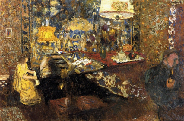 Jean Edouard Vuillard. Misia Sert at the piano