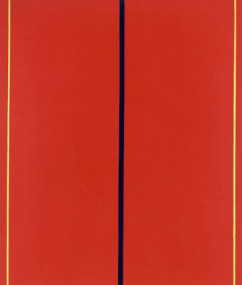 Barnett Newman. Who's afraid of red, yellow and blue II
