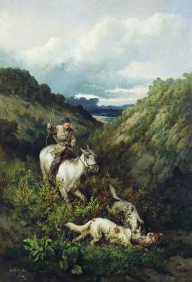 Николай Егорович Сверчков. Охота. 1881