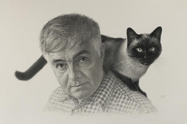 Сергей Алексеевич Макаров. Папа с котом