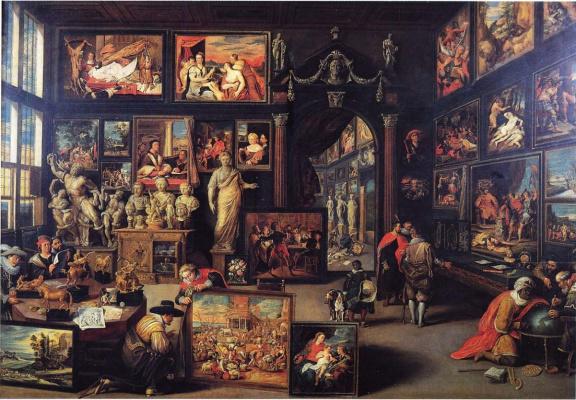 Willem van Haecht. Коллекция Корнелиса де Геста и Парацельс