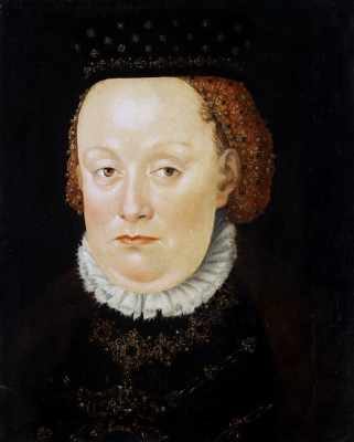 Lucas the Younger Cranach. Agnes Anhalt, wife of Joachim Ernst, Duke of Anhalt-Dessau. Old Masters Picture Gallery, Dresden.