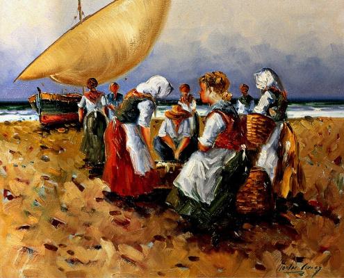 Монтс Арсез. На пляже