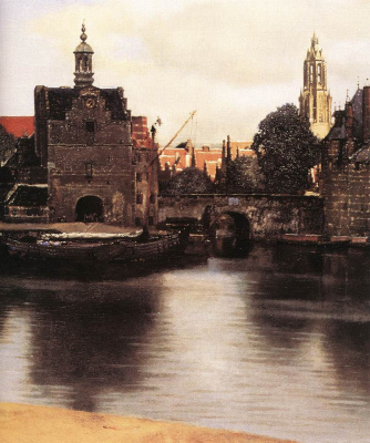 Jan Vermeer. The View Of Delft. Fragment