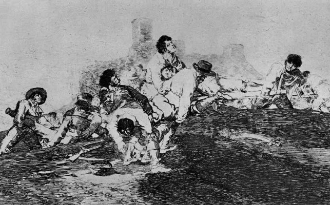 "Francisco Goya. The series ""disasters of war"", page 24: They can still serve"