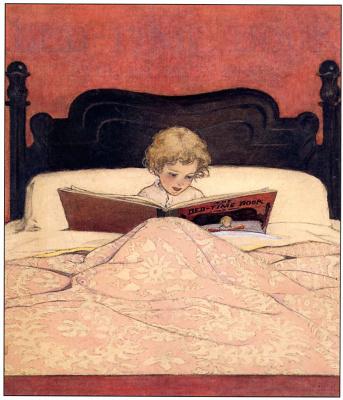 Джесси Уиллкокс Смит. Чтение в кровати