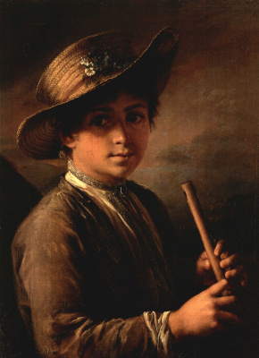 Vasily Andreevich Tropinin. Boy with zhaleyka