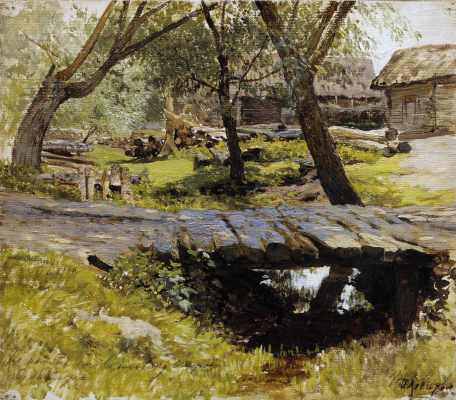 Isaac Levitan. The bridge. Savvinskaya Sloboda