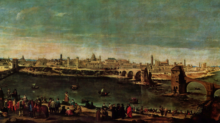 Diego Velazquez. View Of Zaragossa