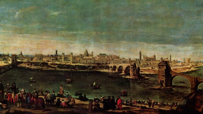 Diego Velazquez. View Of Zaragossa