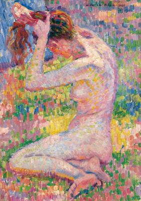 Theo van Rysselberghe. Seated Nude