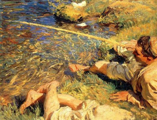 John Singer Sargent. Fisherman in Valle dAosta