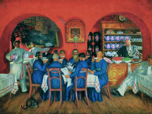 Boris Mikhailovich Kustodiev. Moscow restaurant