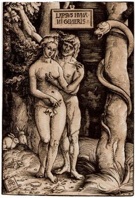 Hans Baldung. Adam and eve