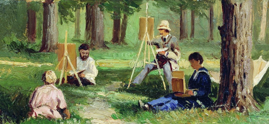 Efim Efimovich Volkov. Artists EN plein air