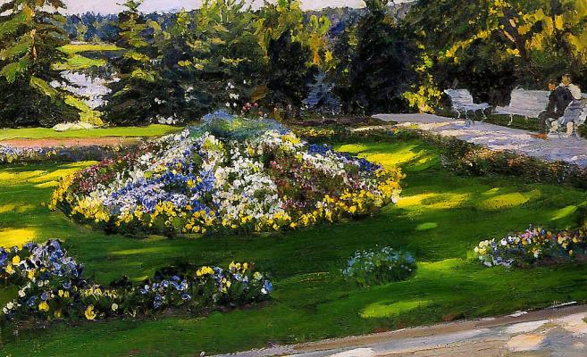 Sergey Arsenievich Vinogradov. Flower garden
