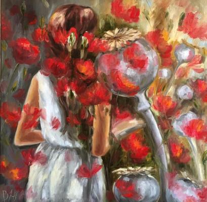 """Natalia Vasilyevna Butenko (Sky pearl). """"Dreams"""" 50x50cm"""