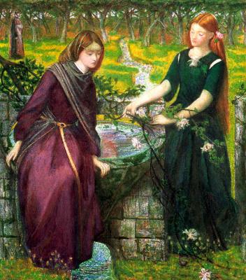 Dante Gabriel Rossetti. Dante's vision of Rachel and Leah