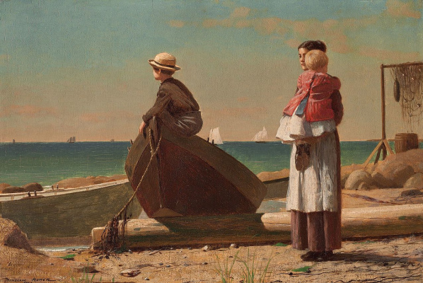 Winslow Homer. The Pope is coming!