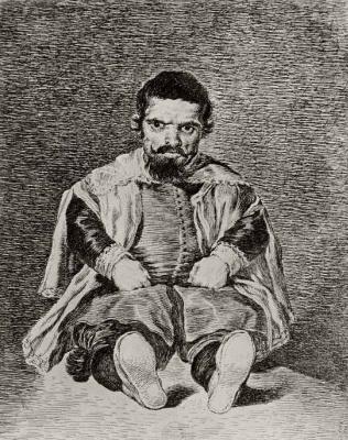 Франсиско Гойя. Портрет карлика Себастьяна де Морра, шута Филиппа IV, с Веласкеса