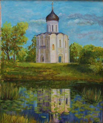 Natalia Mikhailovna Sukhareva. Church of the Intercession on the Nerl.