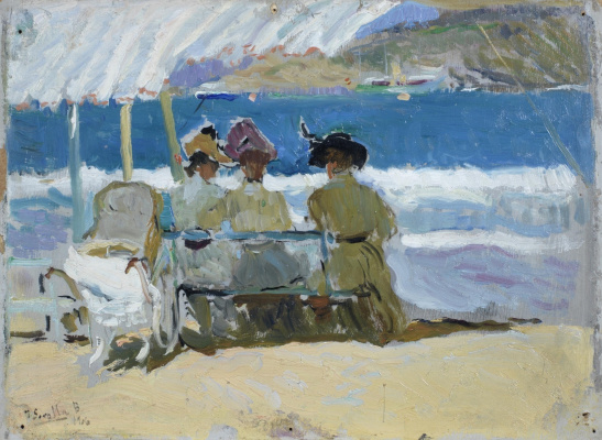 Joaquin Sorolla. Under the tent, San Sebastian
